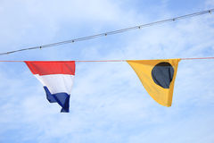 Colorful signal flags Royalty Free Stock Images