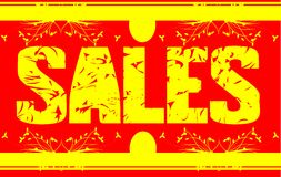 Colorful signboard with word sales Royalty Free Stock Images