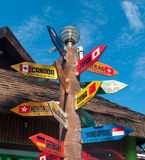 Colorful signpost Royalty Free Stock Photo