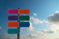 Colorful signs Royalty Free Stock Image