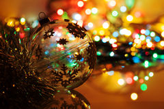 Colorful silhouette of christmas ball Royalty Free Stock Images