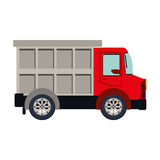Colorful silhouette with dump truck. Illustration Royalty Free Stock Photo