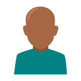 Colorful silhouette faceless half body brunette bald man Stock Photos