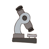 colorful silhouette of microscope tool Stock Photos