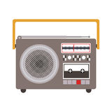 Colorful silhouette sound recorder portable Royalty Free Stock Photography