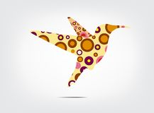 Colorful silhouette symbol. Vector illustration Royalty Free Stock Photography