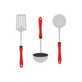 Colorful silhouette utensils kitchen icon design Royalty Free Stock Photography