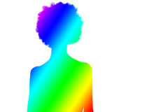 Colorful silhouette of women / female/ adult / girl Stock Photo