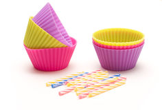 Colorful silicone bakeware Royalty Free Stock Photo