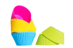 Colorful silicone baking cups. Stock Photography