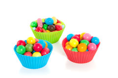 Colorful silicone cupcake molds Royalty Free Stock Photography