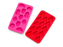 Colorful silicone ice trays Stock Images