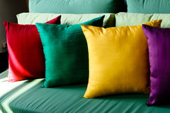 Free Colorful Silk Cushions Royalty Free Stock Photography - 7753517