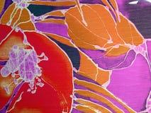 Colorful silk fabric Stock Photo