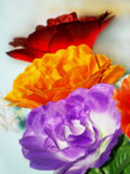 Colorful silk flowers Stock Photography