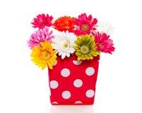 Colorful silk gerber flowers Royalty Free Stock Photos