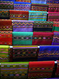 Colorful Silk. Colorful and patterns of Thai local silk Royalty Free Stock Photos