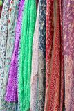 Colorful silk dresses Stock Image