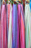 Colorful silk scarves Stock Image