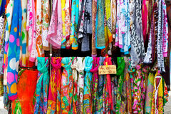 Colorful silk scarves Royalty Free Stock Image