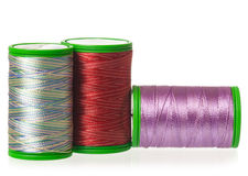 Colorful silk threads Stock Photo