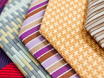 Colorful Silk Ties Royalty Free Stock Photos