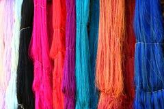Colorful silk yarn background Royalty Free Stock Photo