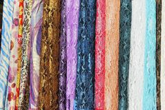 Colorful Silks Stock Photos