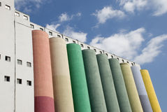 Colorful Silos Stock Photography