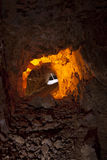 Colorful Silver Mine Tunnel Royalty Free Stock Images