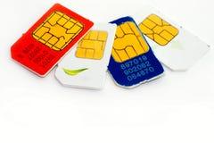 Colorful sim card Royalty Free Stock Photos
