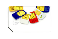 Colorful sim card Royalty Free Stock Images