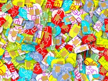 Colorful sim cards Royalty Free Stock Image