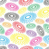 Colorful simple abstract flower seamless light pattern Royalty Free Stock Photos
