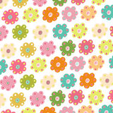 Colorful simple flowers vector Royalty Free Stock Image
