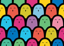 Colorful  simple pattern . Crowd Stock Photos
