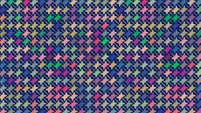 Colorful simple pattern. Vector repeating pattern of simple colorful geometric shapes over a blue background.  creative design, cheerful, festive, for textile Stock Photos
