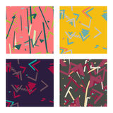 Colorful simple seamless pattern, vintage texture Royalty Free Stock Images