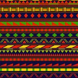 Colorful simple shapes ethnic african striped seamless pattern, vector Stock Photography