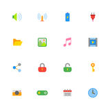 Colorful simple web icon set Royalty Free Stock Image