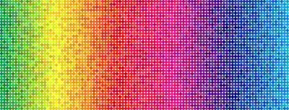 Colorful simplistic round mosaic and minimalist Stock Image