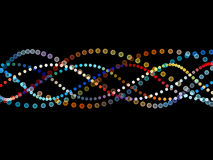 Colorful Sine Wave Pattern Royalty Free Stock Photography