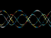 Colorful Sine Wave Pattern Stock Photo