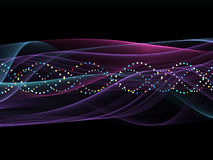 Colorful Sine Wave Pattern Stock Photography