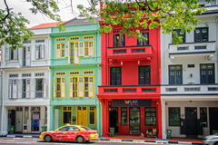 Colorful Singapore traditional houses Stock Photo
