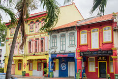 Colorful Singapore traditional houses Royalty Free Stock Photography