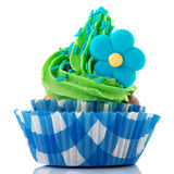 Colorful single cupcake Royalty Free Stock Photography