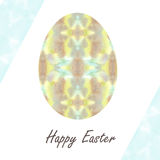 Colorful single easter egg with beautiful  color abstract pattern. Isolated on white background - graphic illustration. Royalty Free Stock Photography