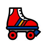 Colorful single roller skate Royalty Free Stock Images