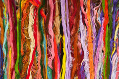Colorful skein thread. Background ( cross stitch material Royalty Free Stock Photo